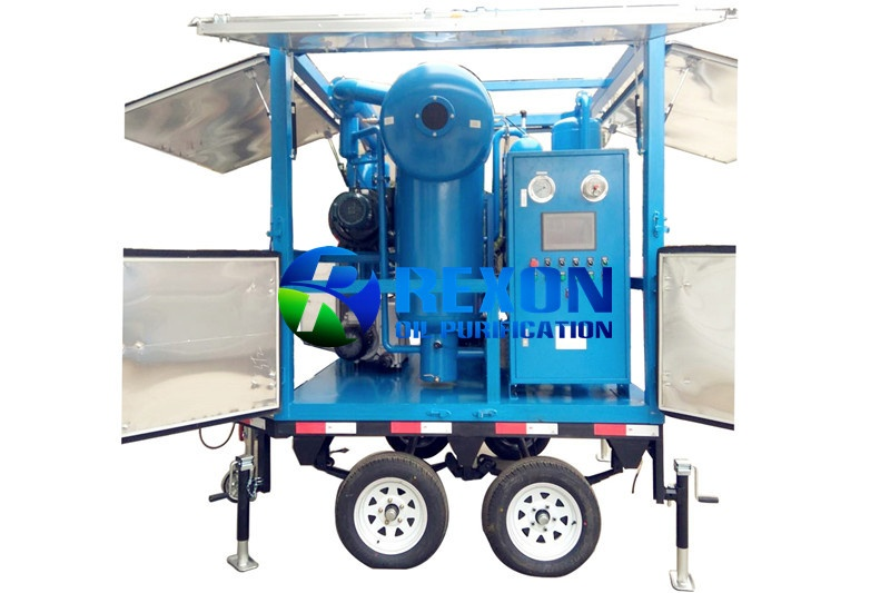 Enclosed Mobile Transformer Oil Filtration Machine ZYD-WM-150(9000LPH)