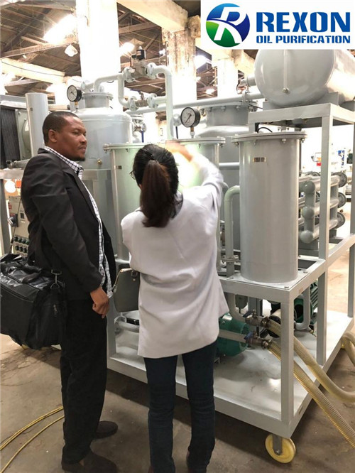 AFRICA CUSTOMER VISIT AND ONSITE DEAL FOR TYA-150 OIL PURIFIER MACHINE