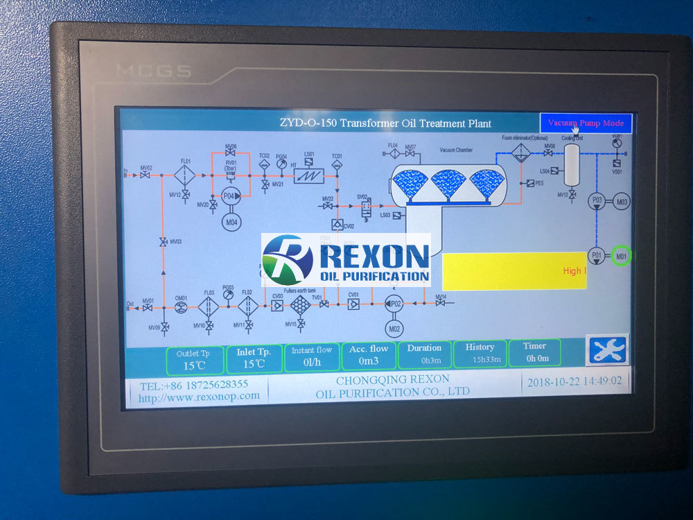 REXON PLC Programming for Transformer Oil Purification System