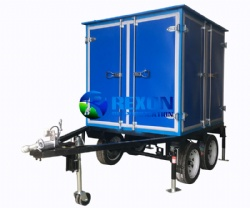 Enclosed Single Axle Trailer Mounted Mobile Type Transformer Oil Purifier